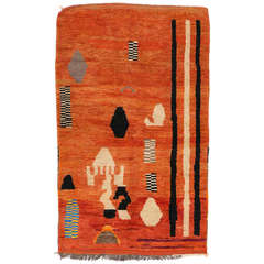 Berber Moroccan Rug with Art Deco Style