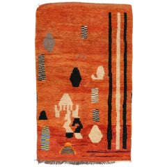 Berber Moroccan Rug Abstract Expressionism and Cubism Style