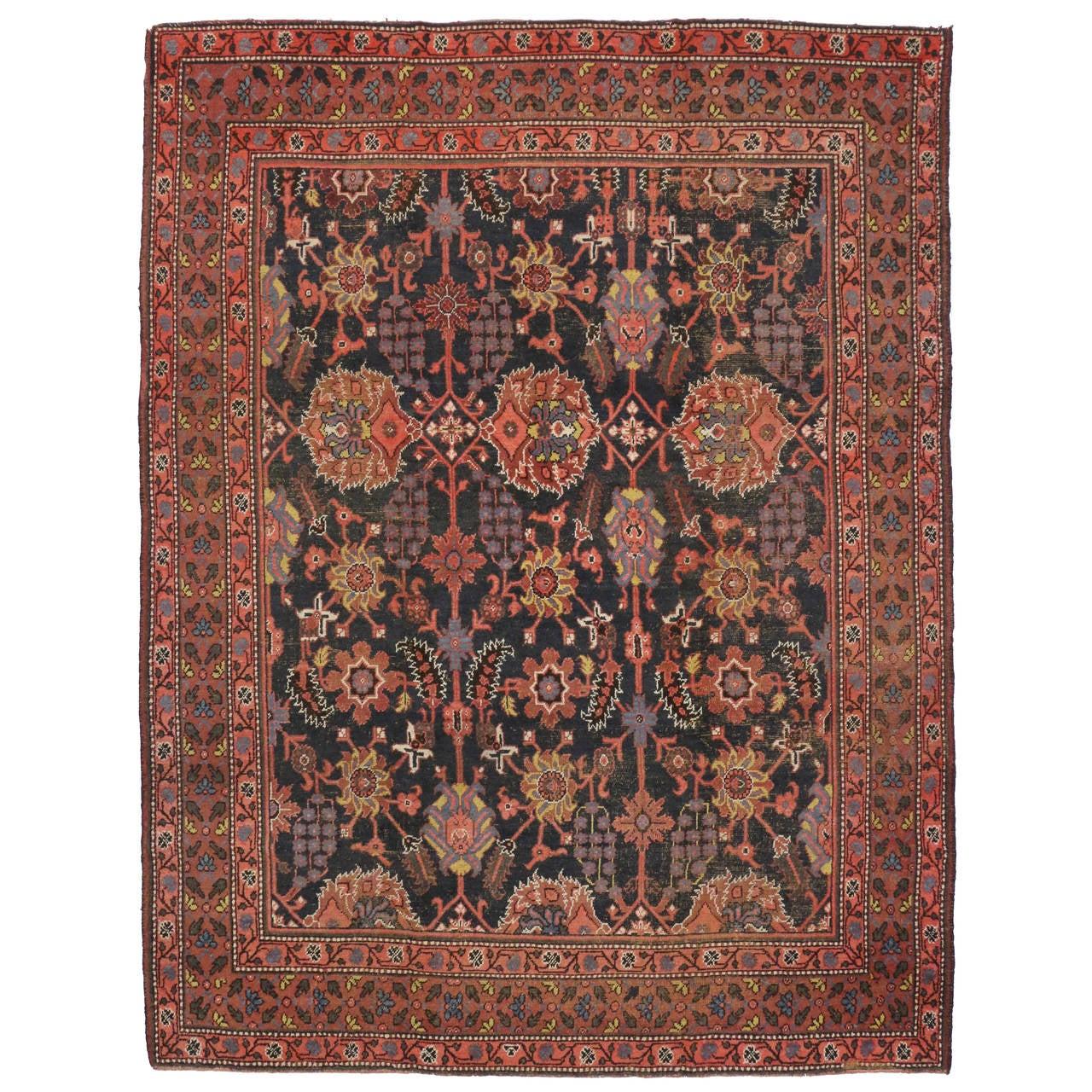 Antique Indian Agra Rug For Sale At 1stdibs: Antique Indian Agra Rug With Modern Design For Sale At 1stdibs