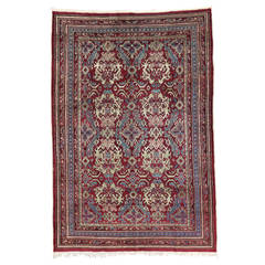19th Century Antique Indian Agra Rug with Modern Design