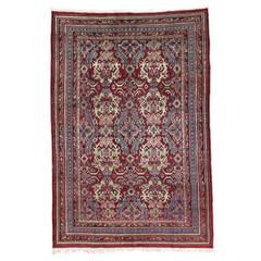 19th Century Antique Indian Agra Rug