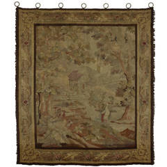 19th Century Antique French Tapestry Wall Hanging