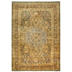 Antique Persian Mashhad Palace Size Rug with Starburst Medallion