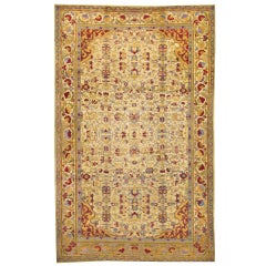 Antique Indian Agra Palace Size Rug with Art Deco Style