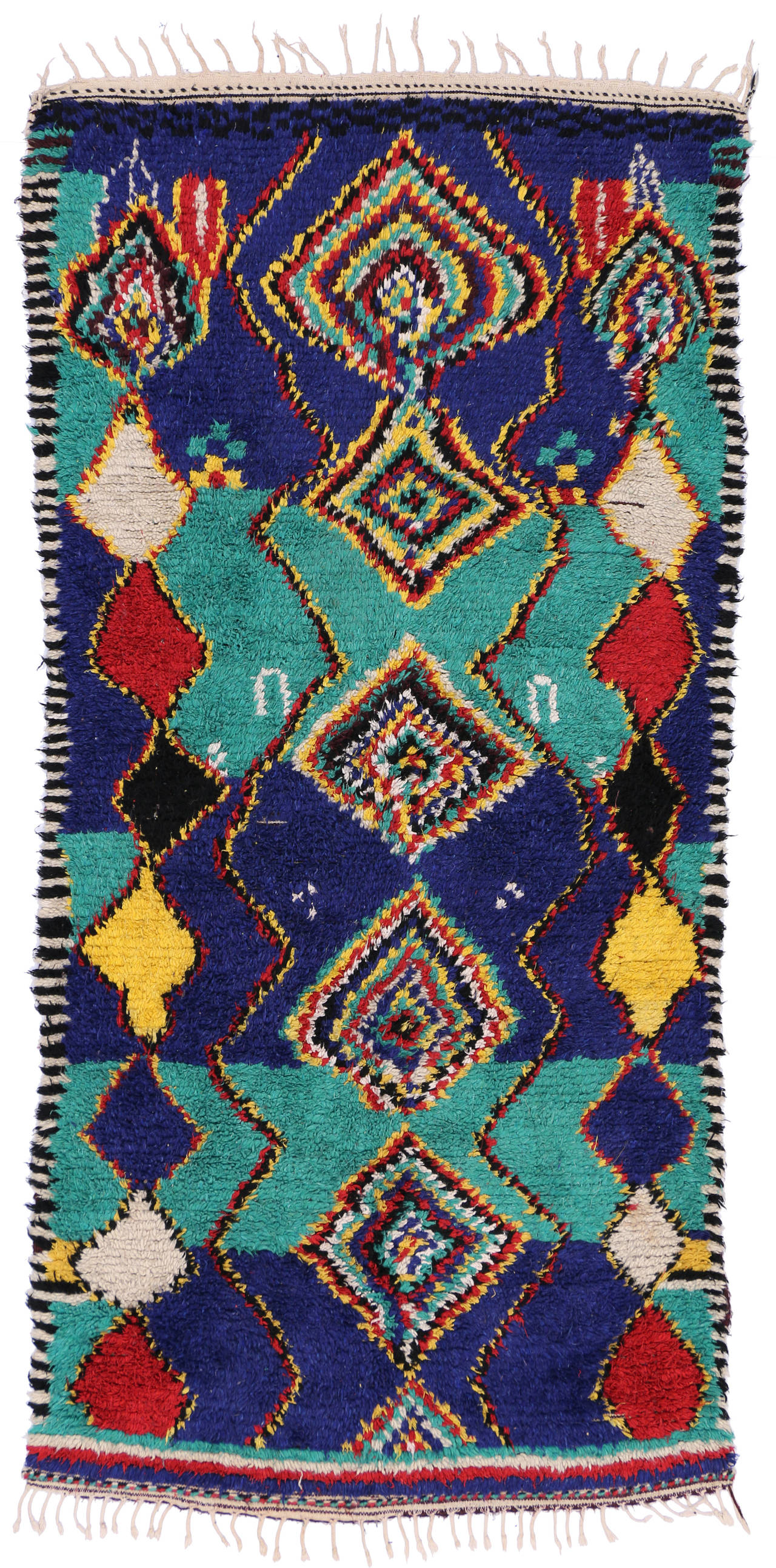 Contemporary Berber Moroccan Rug with Post-Modern Bauhaus Style For Sale 2
