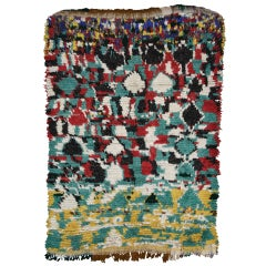 Vintage Berber Moroccan Azilal Rug with Contemporary Abstract Style
