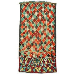 Vintage Azilal Berber Moroccan Rug with Modern Tribal Style