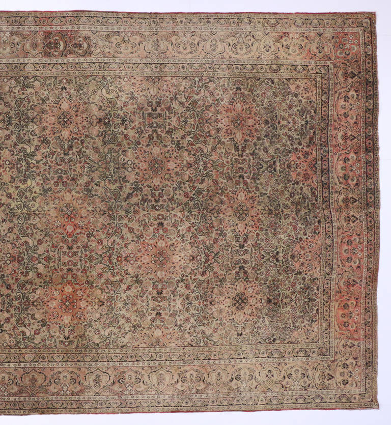 Antique Indian Agra Rug For Sale At 1stdibs: Distressed Antique Indian Agra Gallery Rug With Art