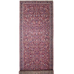 Antique Persian Mashhad Runner with Old World Style, Extra Long Hallway Runner