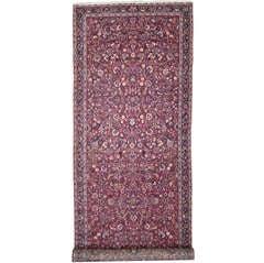19th Century Antique Persian Mashhad Carpet Runner