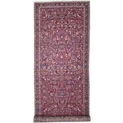 Antique Persian Mashhad Runner with Old World Style, Extra-Long Hallway Runner