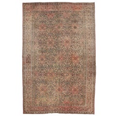 Distressed Antique Indian Agra Palace Size Rug with Art Nouveau Style