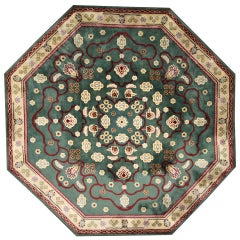 Vintage Oversize Octagon Edward Fields Rug with Regal Old World Style