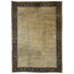 Late 19th Century Antique Indian Agra Rug with Art Deco Style
