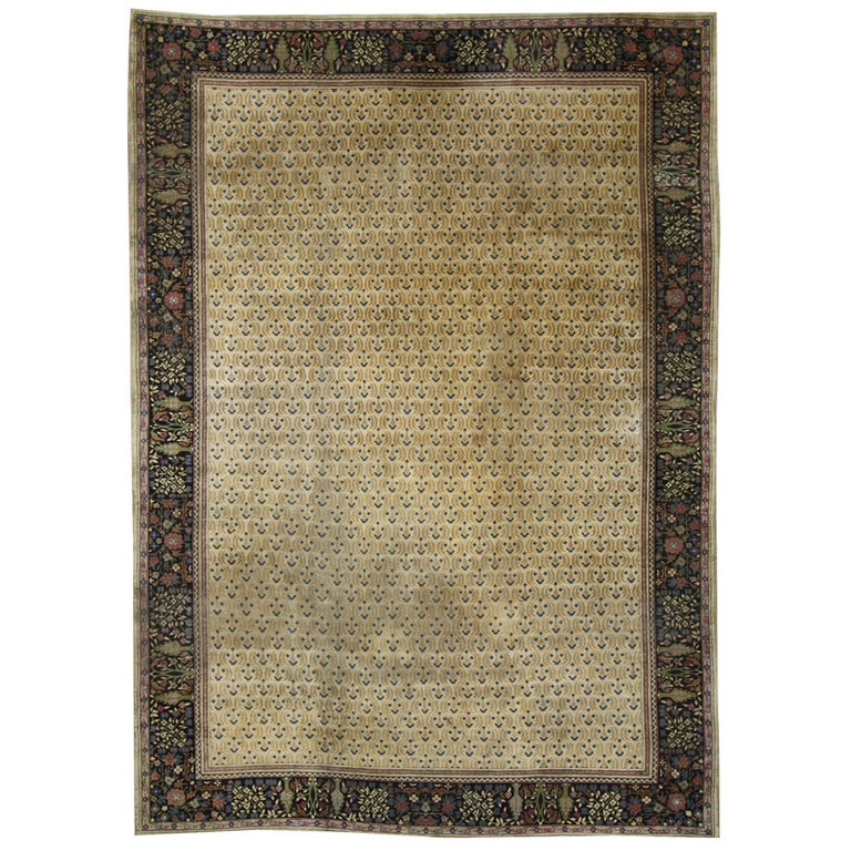 Antique Indian Agra Rug For Sale At 1stdibs: Late 19th Century Antique Indian Agra Rug With Art Deco