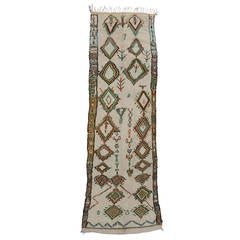 Vintage Moroccan Azilal Runner with Modern Tribal Style, Hallway Runner