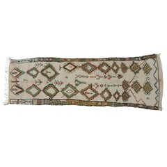Vintage Moroccan Azilal Runner with Modern Tribal Style, Shag Hallway Runner