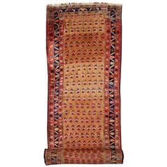 Late 19th Century Antique Persian Kurd Carpet Runner, Long Persian Runner