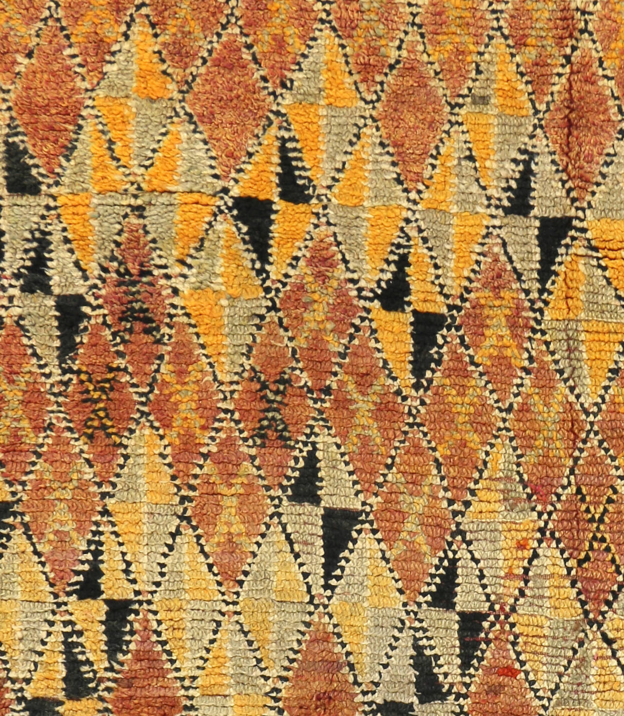 Midcentury Vintage Azilal Moroccan Rug For Sale At 1stdibs