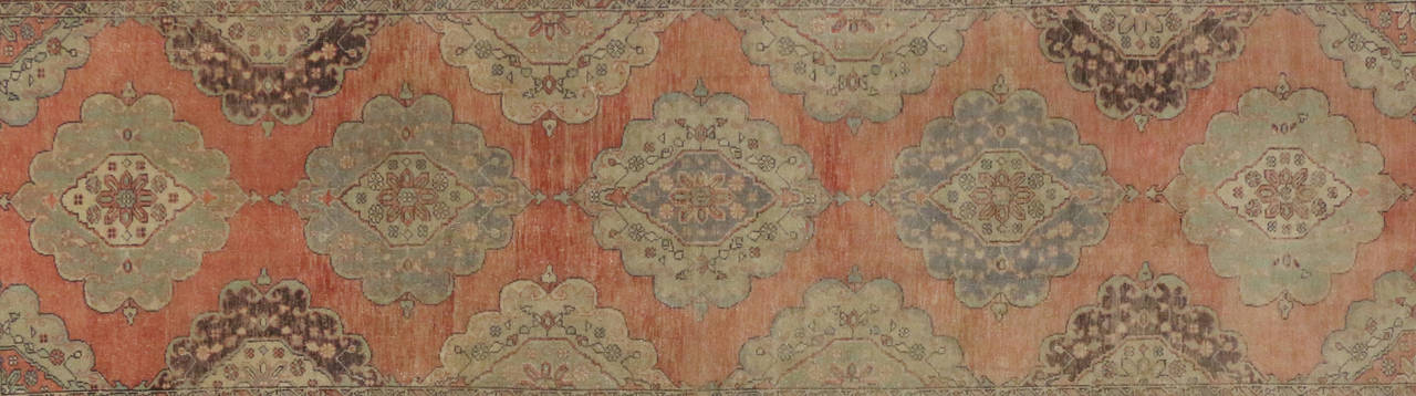 Pair Of Vintage Turkish Oushak Runners With Modern Design