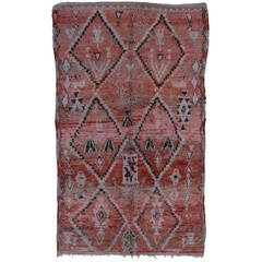 Berber Moroccan Rug with Tribal Design with Mid-Century Modern Style