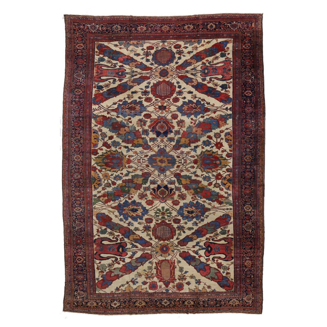 Antique Persian Ziegler Mahal Sultanabad Oversize Rug