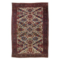 1880's Antique Persian Ziegler Mahal Sultanabad Rug, Palace Size Persian Rug