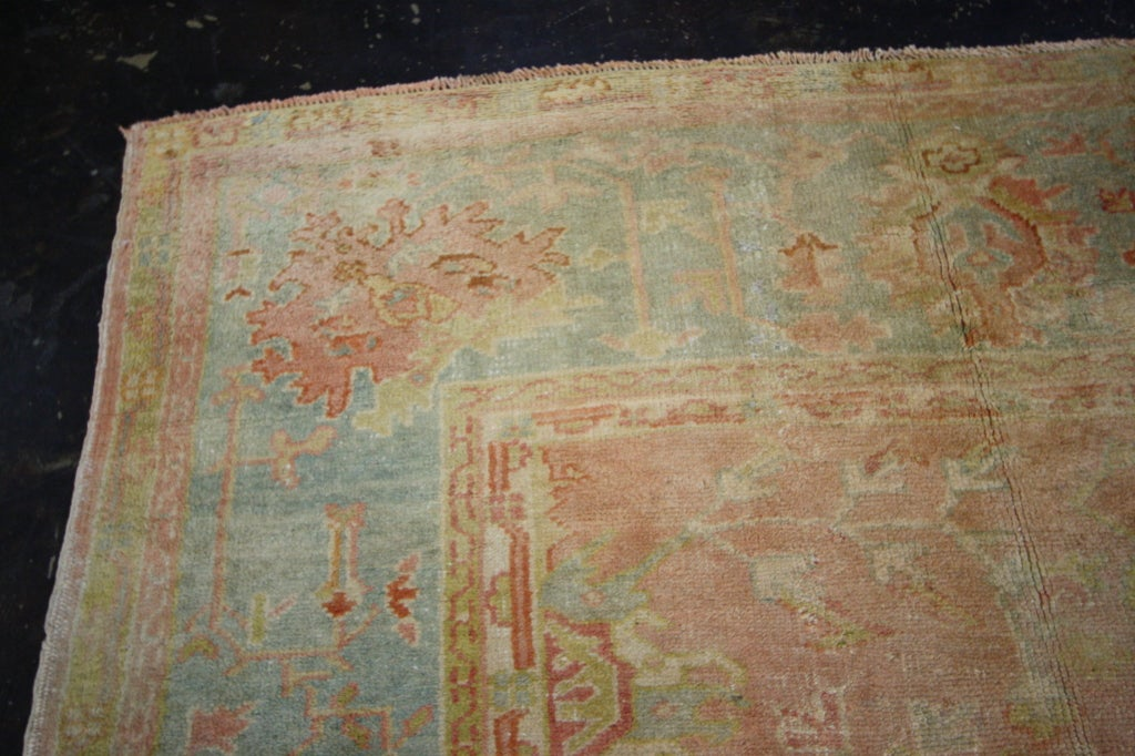 Antique Turkish Oushak Area Rug With Soft Muted Colors For