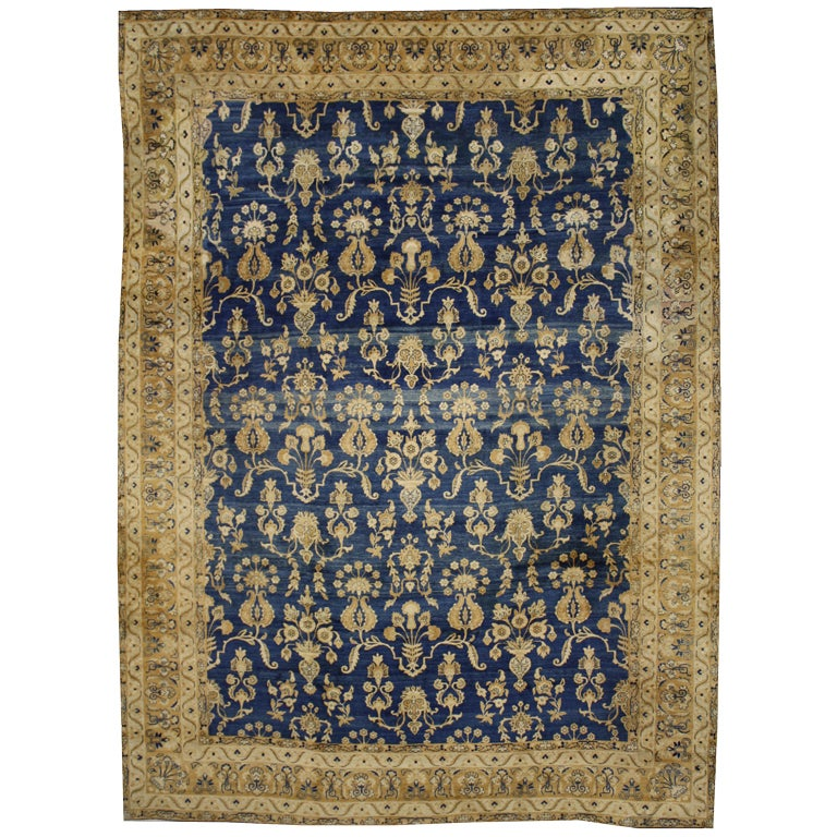 Antique Persian Kerman Area Rug With Hollywood Regency Style For