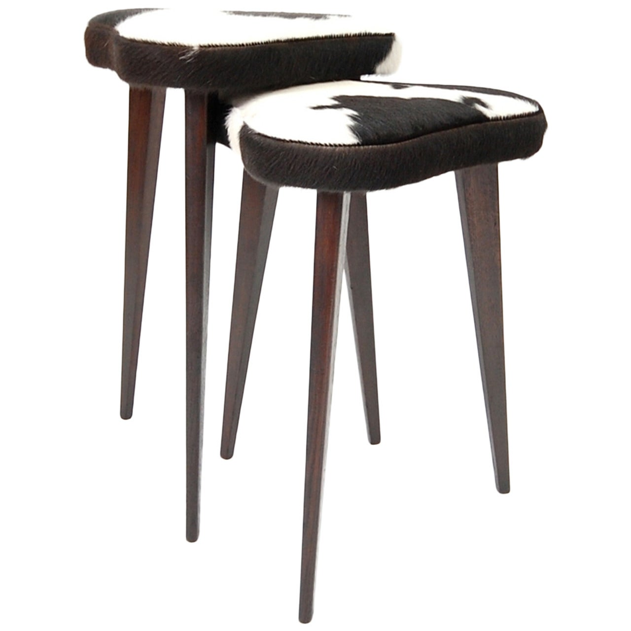 Pair of Small Nesting Stools from France