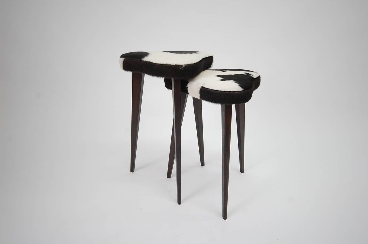 Pair Of Small Nesting Stools From France For Sale At 1stdibs