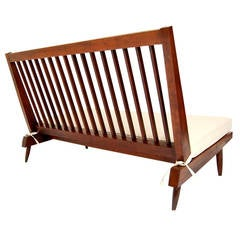 Nakashima Studio Slat-Back Settee in Walnut