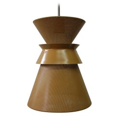 Large Perforated Double Cone Pendant by Gerald Thurston