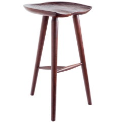 Hand Crafted Stool in Walnut