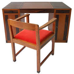game table or desk and chair attributed to francis jourdain vintage office chairs for sale c