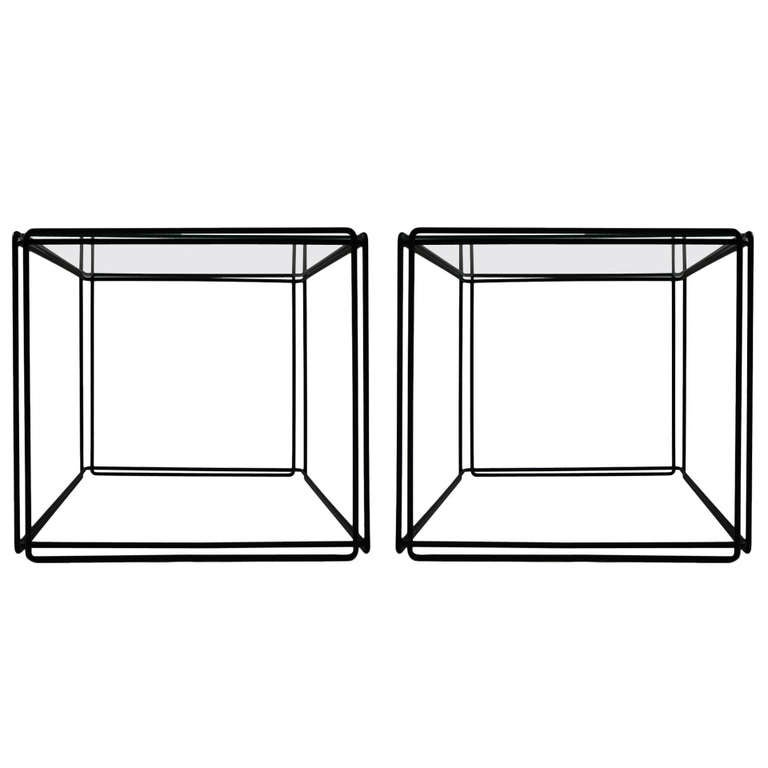 Pair of 'ISOCELE' Tables by Max Sauze For Sale