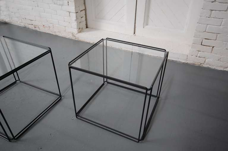 French Pair of 'ISOCELE' Tables by Max Sauze For Sale