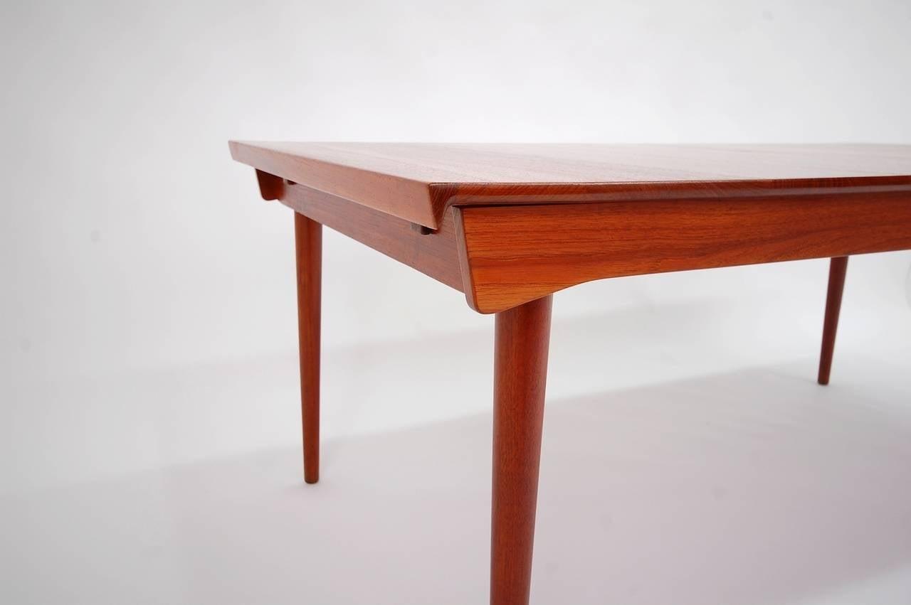 Finn Juhl 540 Extension Dining Table In Teak For Sale At