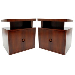 Pair of Andrew Szoeke End Tables in Rosewood