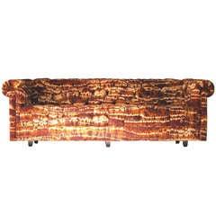 Milo Baughman Chesterfield Sofa in Jack Larsen Fabric