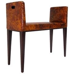 Bermuda Bench in Original Oil Drop Leather by Dunbar