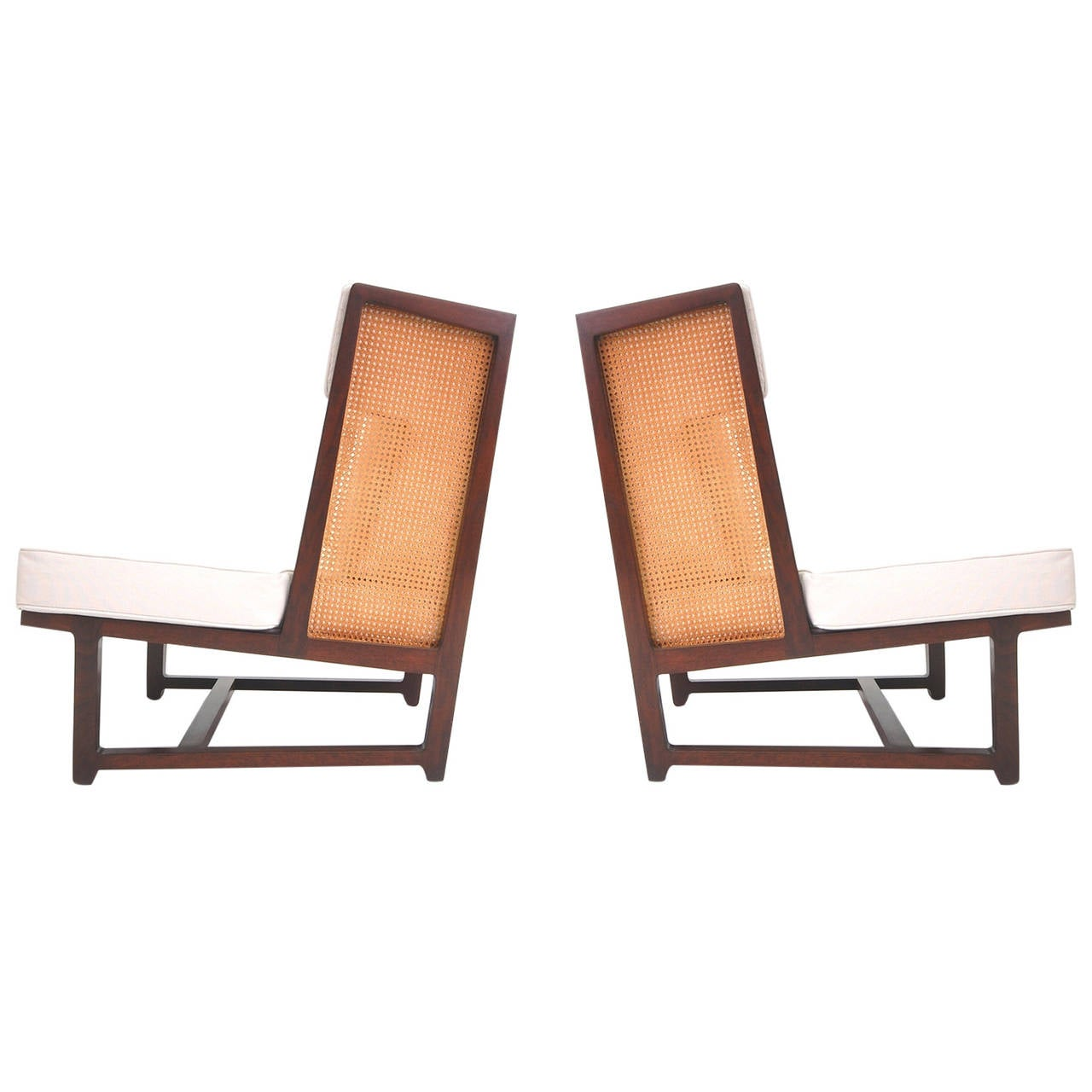 Pair of High Back Lounge Chairs by Dunbar at 1stdibs