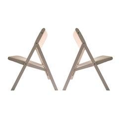 Pair of Gabriella Folding Chairs by Gio Ponti
