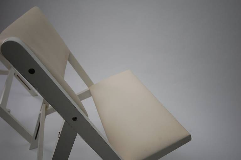 Mid-20th Century Pair of Gabriella Folding Chairs by Gio Ponti For Sale
