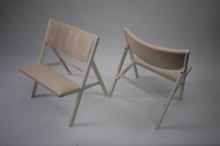 Italian Pair of Gabriella Folding Chairs by Gio Ponti For Sale