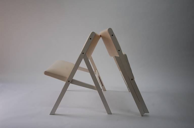 Pair of Gabriella Folding Chairs by Gio Ponti For Sale 2