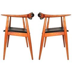 Pair of Hans Wegner Chairs Retailed by Georg Jensen