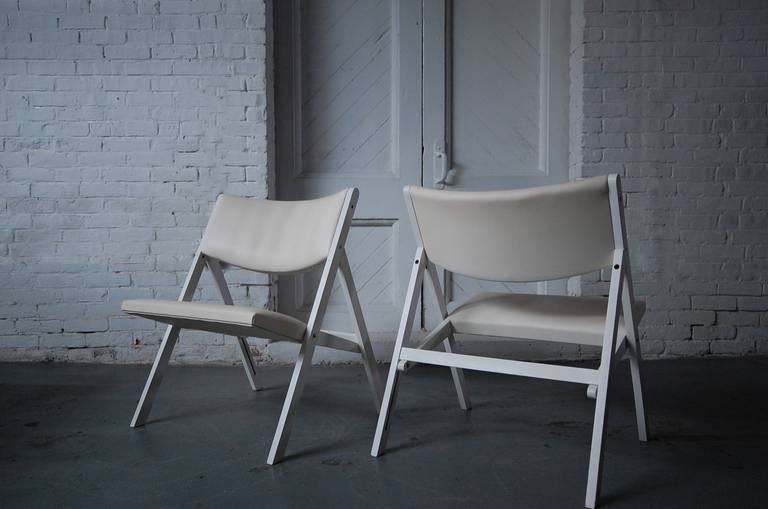 Mid-Century Modern Pair of Gabriella Folding Chairs by Gio Ponti For Sale