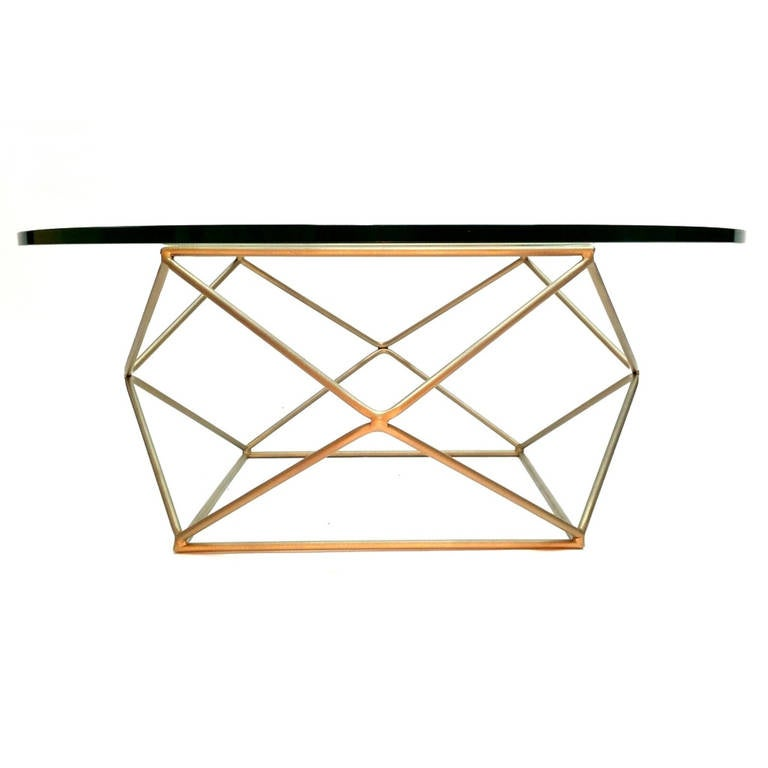 Geometric Coffee Table By Milo Baughman At 1stdibs