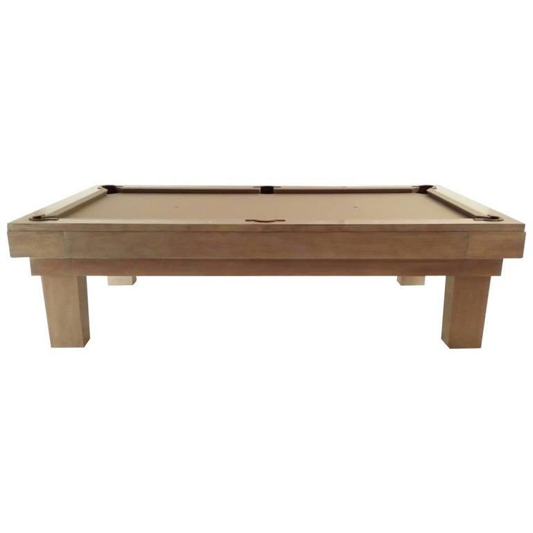Custom Pool Table Designed by Thomas O'Brien of Aero Studios For Sale